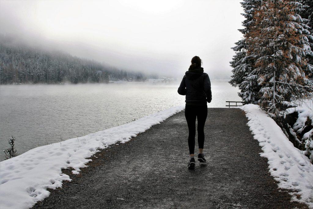 corsa freddo lago